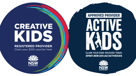 active kids and creative kids voucher are accepted.