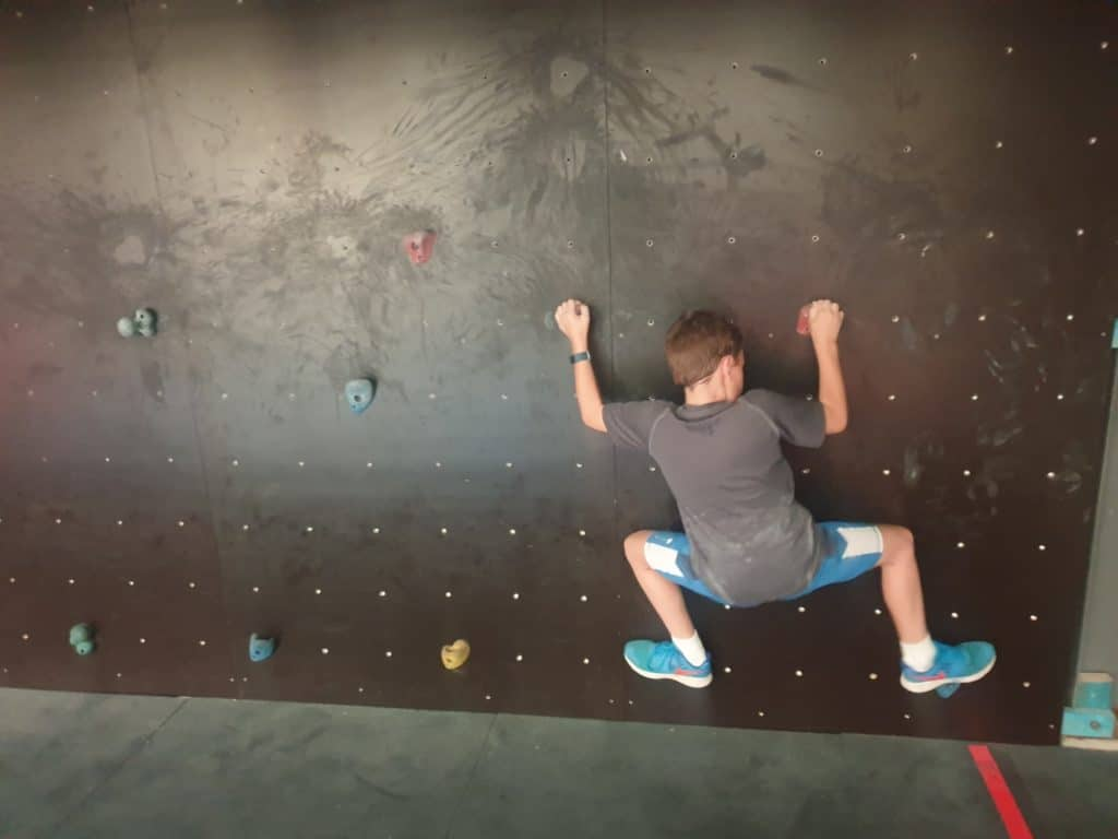 AWF Young boy on climbing wall