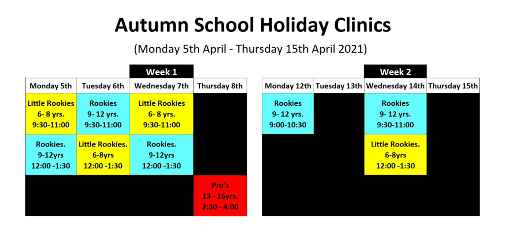 Autumn School Holiday Clinics